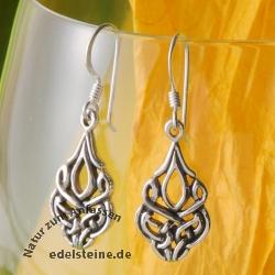 Silver Earring Art Nouveau