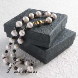 Box for Jewellery black 10 x 10 x 3 cm 2 pieces