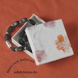 Box for Jewellery white 10 x 10 x 3 cm