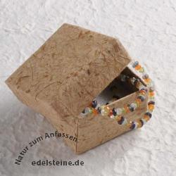 Kleine Schmuckbox braunes Bananenpapier 5,5 x 5,5 x 3,5 cm