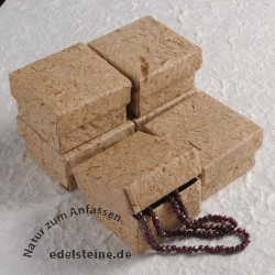Box for Jewellery brown 5,5 x 5,5 x 3,5 cm 6 pieces