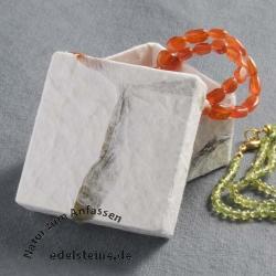 Klein Handgeschöpft Weiß Schmuckbox ca 5x5 cm