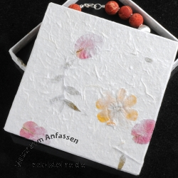 Box for Jewellery white 18 x 18 cm