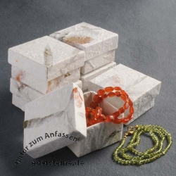Box for Jewellery white 5,5 x 5,5 x 3,5 cm 6 pieces