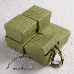 Kleine Schmuckbox grün handgeschöpft ca 5 x 5 cm 6 Stück
