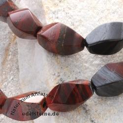 Iron Jasper Navettina Gemstone-Beads 16x8mm