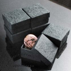 schwarze kleine Schmuckbox 5,5 x 5,5 x 3,5 cm 6 Stück