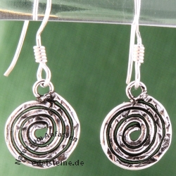 Silver Earrings Spiral