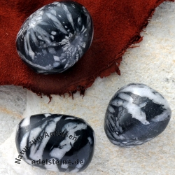 Porphyrit Pinolit Trommelsteine 20mm 3 Stück