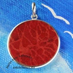 Roter Korallen Taler 30 mm