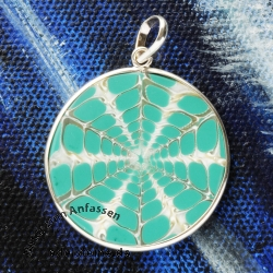 Spider Shell Pendant with Silver 9