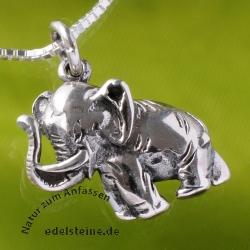 Silber 925 Anhänger Elefant