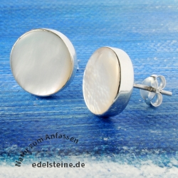 Earjewellery mother-of-pearl white