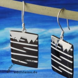 Zebra-Shell ear pendant with silver 7
