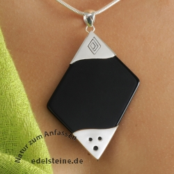 Black Pendant with silver big