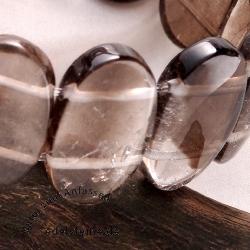 Smokey Quartz Bracelet Oval Shaped