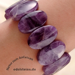 Amethyst Oval-Armband 25 mm