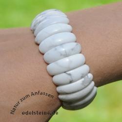 Magnesit Halbmond-Armband