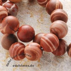 Streifenjaspis-Perlen, Kugel 16 mm