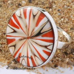 Roter Mandala Spider Ring 25 mm
