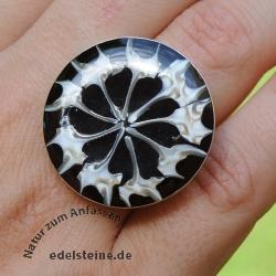 Schwarzer Spider Ring