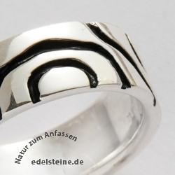 Silber Ring Oxi 925er Silber Massiv Stabiler Silberring