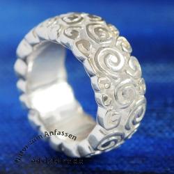 Silberring Spiralen