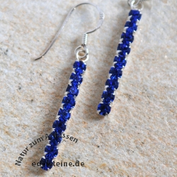 Earhooks dark blue Zirkonia