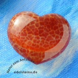 Fire Agate Heart