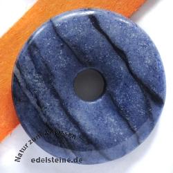 Blauquarz PI-Scheibe Streifung 40mm Donut Anhänger