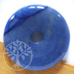 Blauquarz Donut 40mm BLAUE Qualität