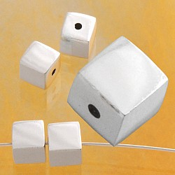Silverbead Cube 6 mm Sterlingsilver