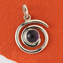 Silver Pendant with Amethyste