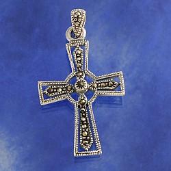 silver Crucifix Markasit