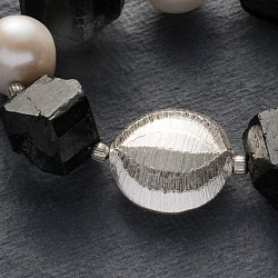Schmuck Perle Diskus Silber