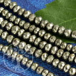 Pyrite Necklace with facetted Pyrite Beads