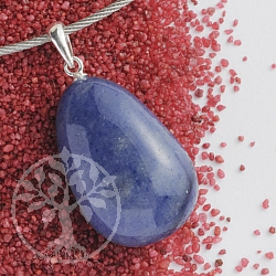 Blue Quartz pendant with loop 925 25-30