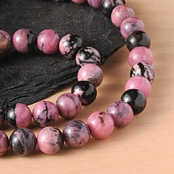 Gemstone Beads Rhodonite 4mm/40cm