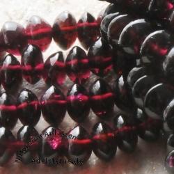 Granat Perlen Linse