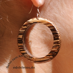 Wood Earpendant  big Ring