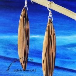 Holzohrhänger extralang Holz Ohrringe