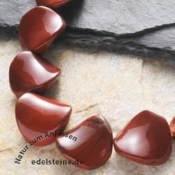 Rote Jaspis Perlen Twist Rund 16x8mm