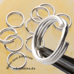 Splitring 8 mm Sterlingsilver for jewellery