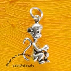 Affe Silberanhänger  Silber 925