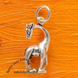 Silver Pendant Giraffe