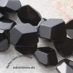 Obsidian flache Perlen