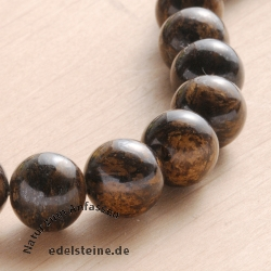 Gemstone-Beads Bronzit 10 mm 40cm