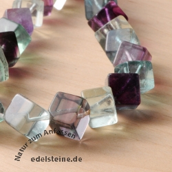 Fluorite cube corner drilled 7 mm