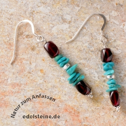 Garnet and Tourquise Earring