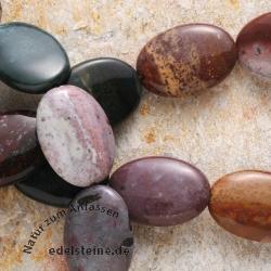 Indischer Achat flache Olive Perlen